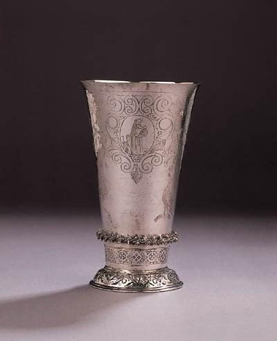 A fine Dutch silver beaker