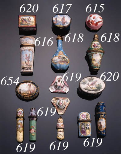 Two various polychrome enamell