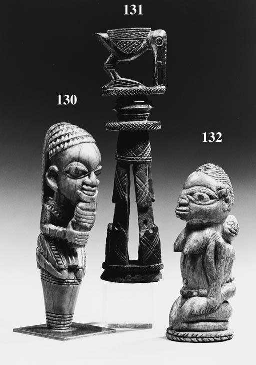 a yoruba ivory implement