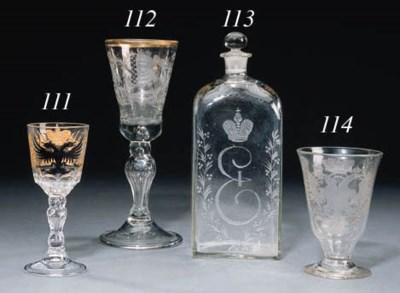 A glass Vodka Flask