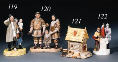 A porcelain group 'From the Ta
