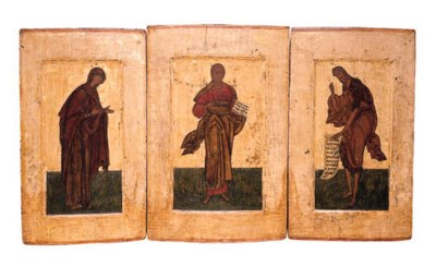 The Deisis on three panels