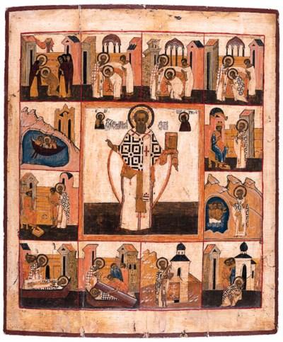 Saint Athanasios (?) with Scen