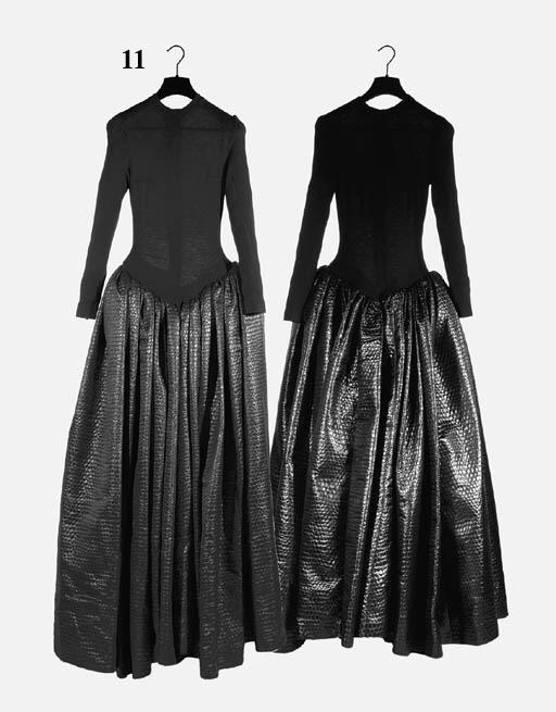 A long evening dress, the long