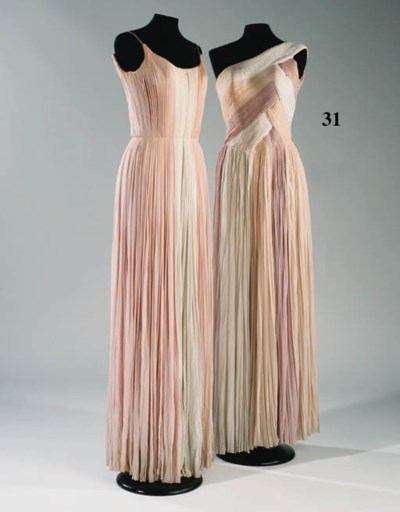 A long Grecian evening dress c