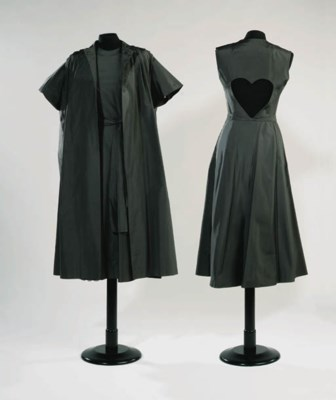 A cocktail dress and coat of d