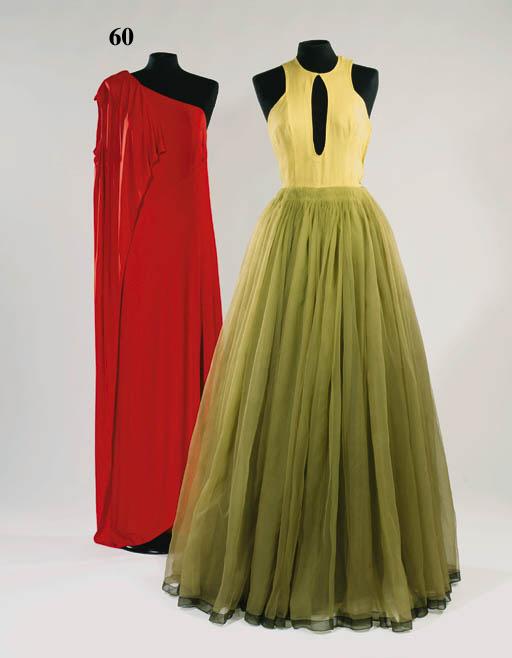 A long evening sheath dress of