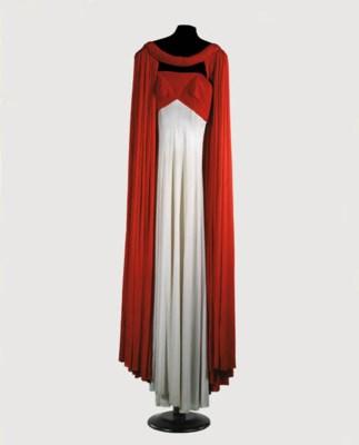 A long evening dress and mantl