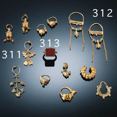 SEVEN SINGLE ISLAMIC GOLD EARR
