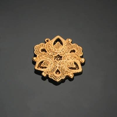 A TIMURID PIERCED GOLD MEDALLI