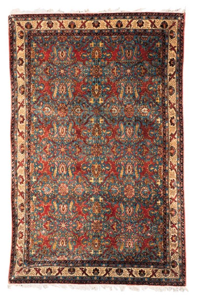 A PART SILK QUM CARPET