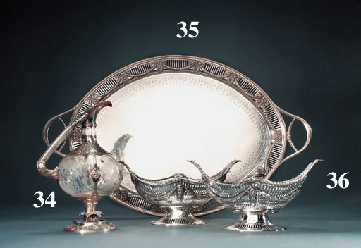 A pair of Victorian silver baskets