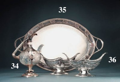 A pair of Victorian silver bas