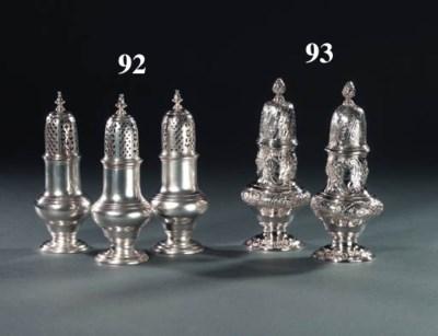 A set of three George II silve