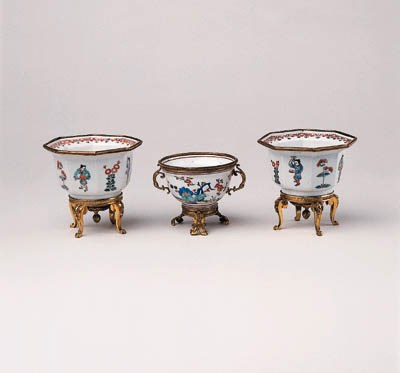 THREE ORMOLU MOUNTED KAKIEMON