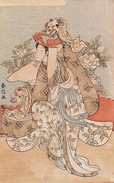 HARUNOBU (1724-1770): a large