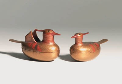 A PAIR OF LACQUER KOGO
