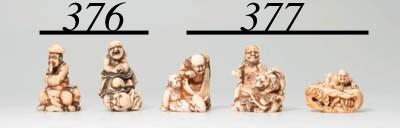 Three Early Ivory Netsuke