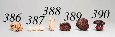 Three Wood Netsuke And An Umim