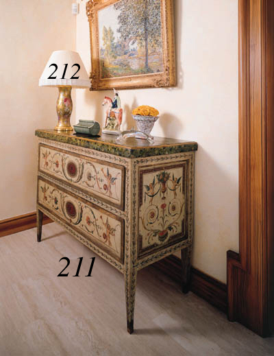 AN ITALIAN PAINTED COMMODE