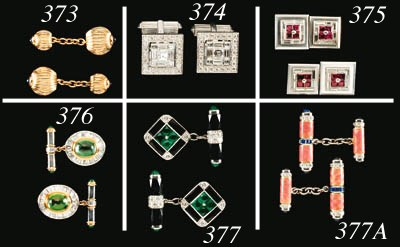 A Ruby and Diamond Dress-set