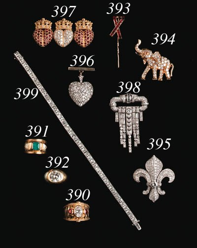 A Ruby and Diamond Brooch by K
