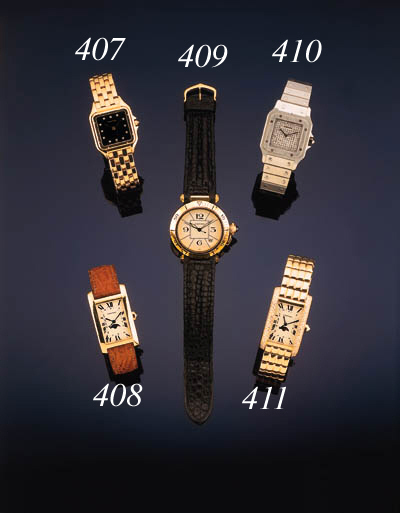 Cartier. A platinum and diamon