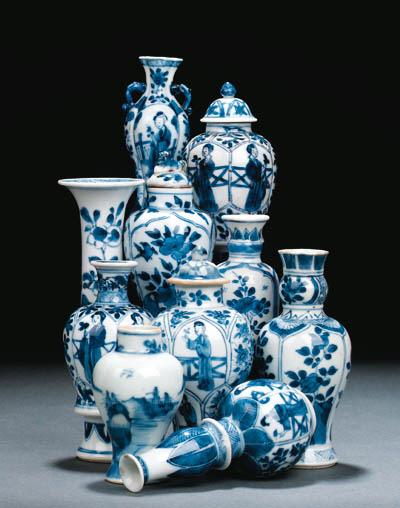A GROUP OF TEN CHINESE MINIATU
