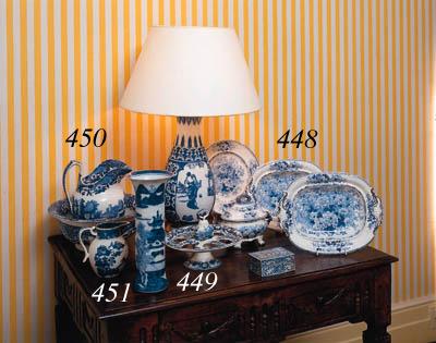 A Davenport blue and white pot