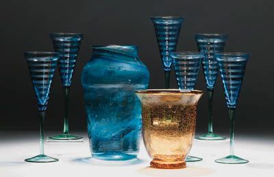 A quantity of coloured glass