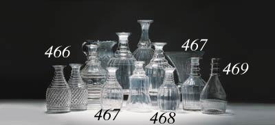Three items of cut-glass