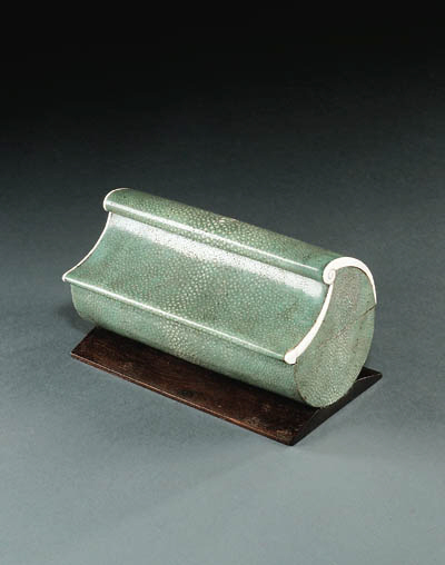 A SHAGREEN AND IVORY MOUNTED B