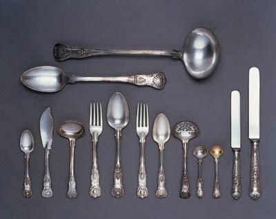 A Victorian composite silver t
