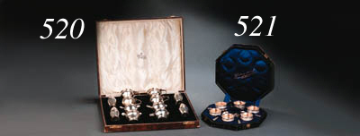 A silver condiment set