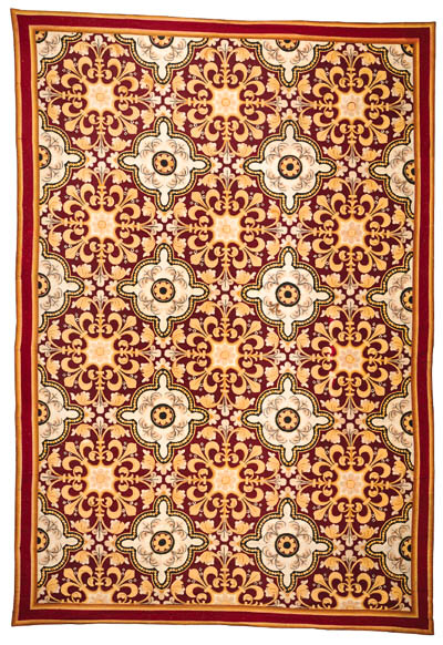 A FRENCH NEEDLEWORK CARPET