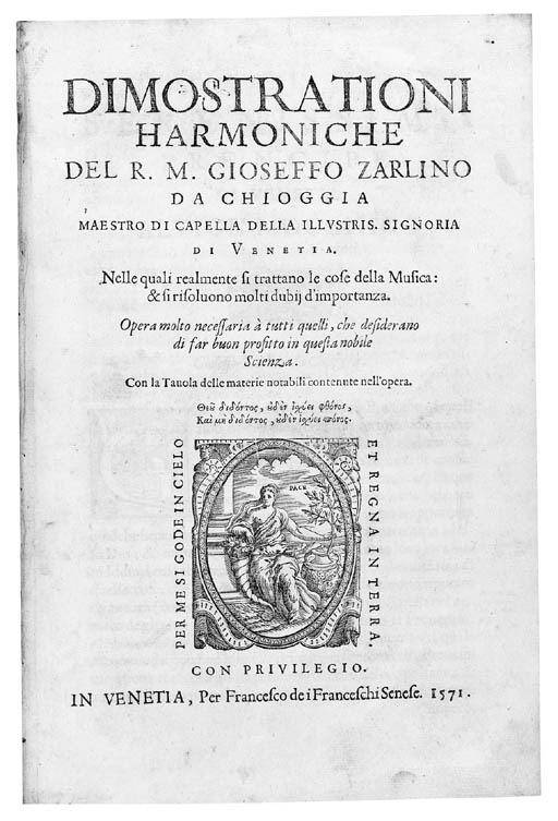 ZARLINO, Gioseffo (1517-1590).