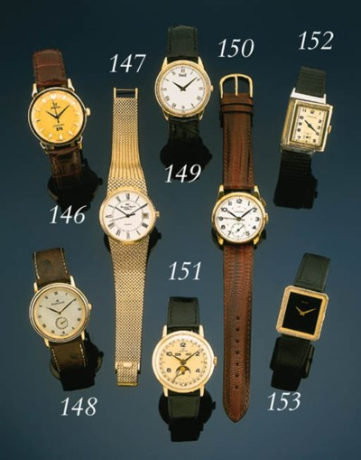 Piaget.  A gold rectangular wr