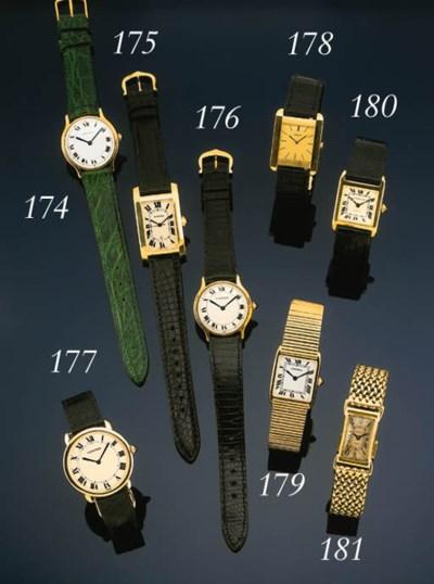 Cartier.  An 18 carat gold rec