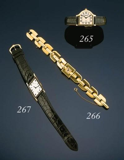 Cartier.  A lady's gold bracel