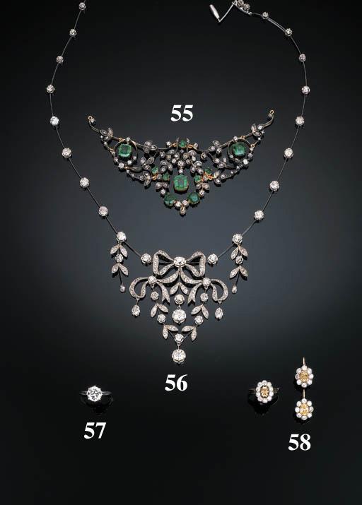 A 19th Century Emerald and Diamond Tiara