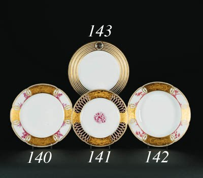Five porcelain dessert Plates