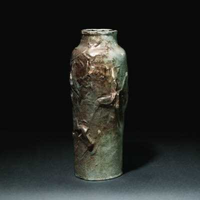 A stoneware moulded Vase