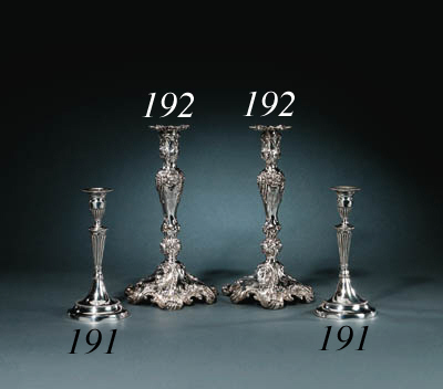 Two silver Candlesticks