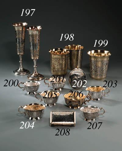 A silver-gilt niello Box