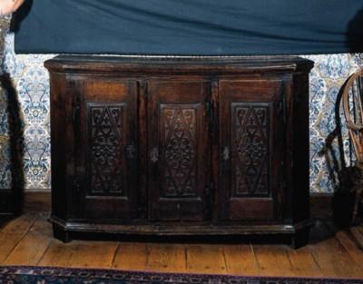 An oak cupboard, Flemish/Germa