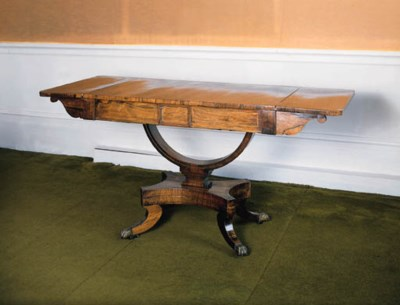 A Regency rosewood and brass-s