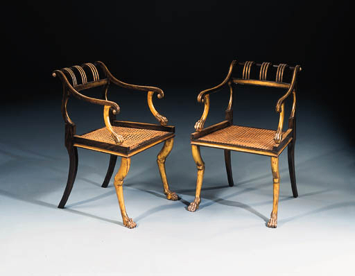A pair of simulated rosewood a