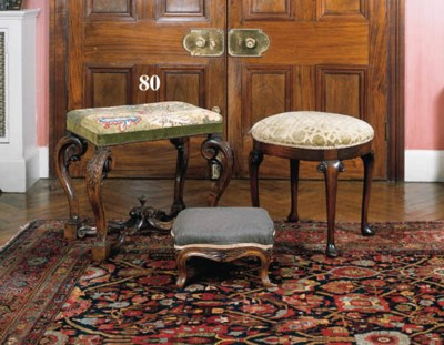 A walnut stool, 17th century a