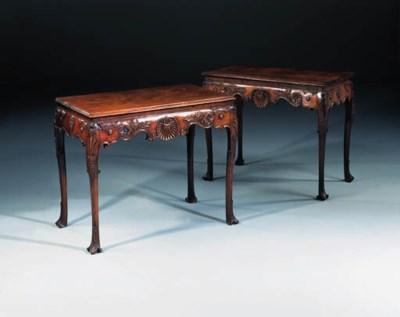 A pair of Irish George II maho