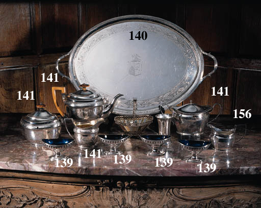 A George III four-piece silver